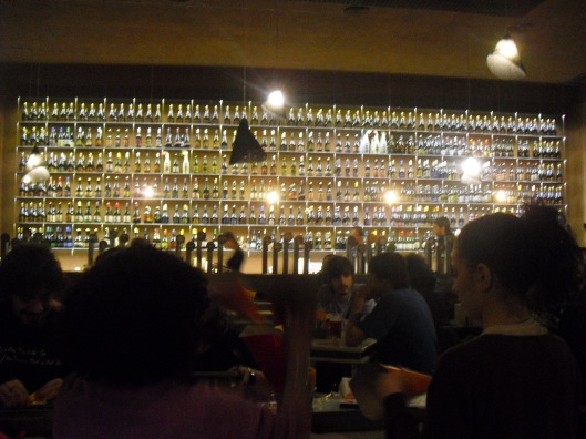 Wall of beers at Open Baladin in Rome