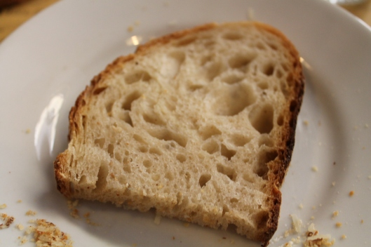 Well-made, naturally fermented bread.