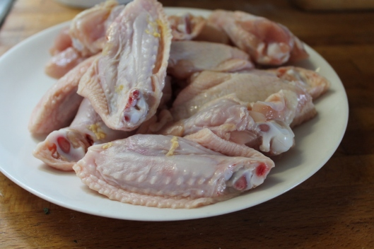 These wings are gorgeous because they are raised locally at Forks farm. Look how clean and fresh they are!