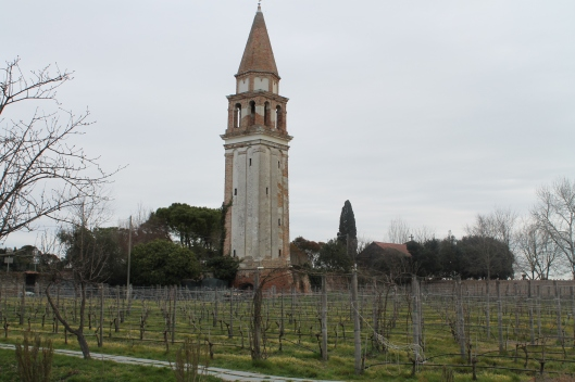 Venissa's walled vineyard.