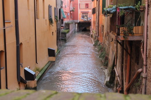 "One of Bologna's ""hidden"" canals."