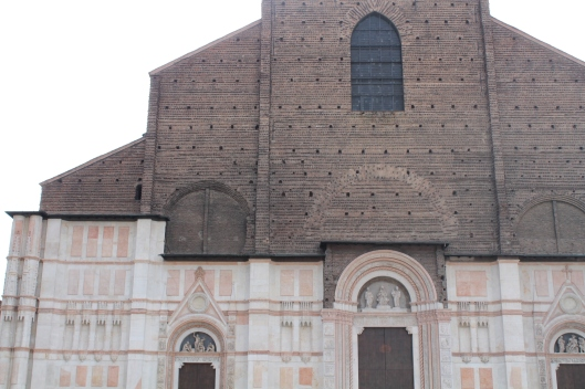 Basilica of San Petronio with its unfinished facade.
